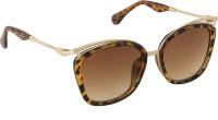 Danny Daze D-2808-C3 Oval Sunglasses Brown