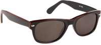 Cristiano Ronnie Black & Red Wayfarer Sunglasses Grey