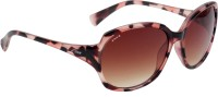 Fave Oval Sunglasses Brown
