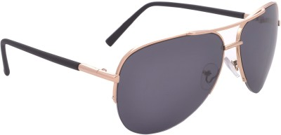 Iris Iris Eyewear Aviator Sunglasses (Black)
