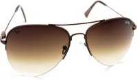 Abqa Dual Gradient HI Quality Limited Edition Half Frame Aviator Sunglasses