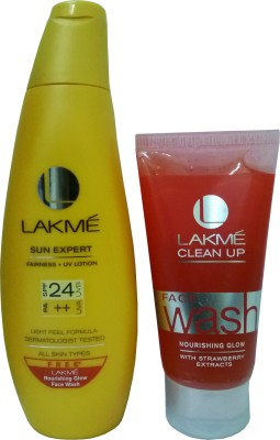 Lakme Sun Expert Fairness UV Lotion with Offer - SPF 24 PA++ best price on Flipkart @ Rs. 175