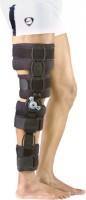 Zcare Pharma Rom Brace Left Leg Knee, Calf & Thigh Support (Free Size, Black)