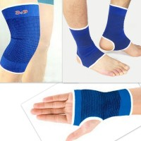 99dailydeals R100 Combo Of 3 Palm Ankle Knee Support For Gym Jogging Exercise Muscle Pain Health (Free Size, Blue)