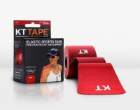 KT Tape Original Pre-Cut 20 Strip Cotton Red Foot Support (Free Size, Red)