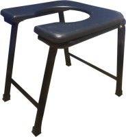 Orizon Commode Stool Foldable Knee, Calf & Thigh Support (Free Size, Black)