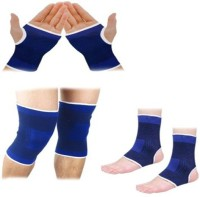 Vinto ALL IN ONE SUPPORTPAIR OF PALM ANKLE KNEE (Free Size, Multicolor)