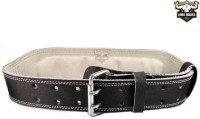 Hard Bodies Genuine Leather Gym Belt With Padded Back Support (Free Size, Black)