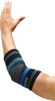 Omtex Superior Elastic Elbow Support (L, Black, Blue)