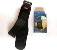 Grip's Neoprene Tennis / Golfer Elbow Brace Elbow & Ankle Support (Free Size, Black, Blue)