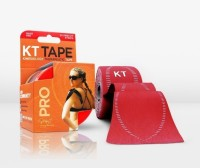 KT Tape Pro Pre-Cut 20 Strip Synthetic Rage Red Ankle Support (Free Size, Red)