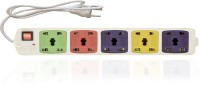 Hitisheng 5+5 Sockets Power Extension Cord Board Multiple Outlet 10 Strip Surge Protector (Multicolor)