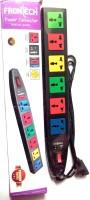 Frontech Power Connector Multicolor 6 Strip Surge Protector (Multicolor)