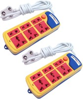 Electricless Power Extension 6 Wall Mount Surge Protector (Multicolor)