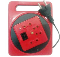Edos Power Extension 3 Single Adapter Surge Protector (Red)