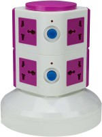Anni Creations Essential 8 Single Adapter Surge Protector (Pink)
