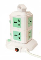 Ssi Vertical Socket Board With USB Port 8 Wall Mount Surge Protector (White)