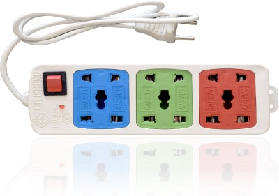 Hitisheng-3+3-Sockets-Power-Strip-Extension-Cord-Board-6-Strip-Surge-Protector