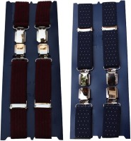 Winsome Deal X- Back Suspenders For Men Maroon, Blue - SUSE8F22MHUCA2KZ