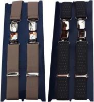 Winsome Deal X- Back Suspenders For Men Beige, Blue