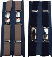 Winsome Deal X- Back Suspenders For Men Beige, Blue