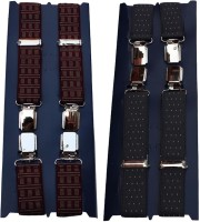 Winsome Deal X- Back Suspenders For Men Maroon, Blue