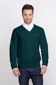 ALX New York Solid V-neck Casual Men's Sweater - SWTDSG8ZGGAJPXH8