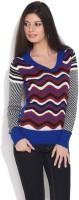 Jealous 21 Geometric Print V-neck Casual Women's Sweater