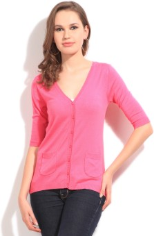 U.S.Polo Assn. Solid V-neck Casual Women's Sweater