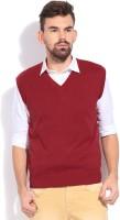 Indian Terrain Solid V-neck Casual Men's Sweater - SWTDZZHQXKFZA3MY