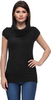 LIB WOMAN Self Design Cowl Neck Casual, Festive, Formal, Lounge Wear, Party Women's Sweater