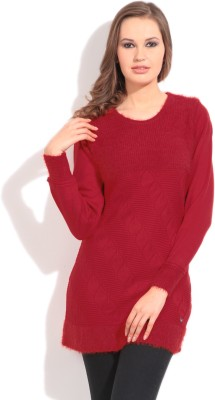 Duke Duke Solid Casual Women's Sweater (Red)