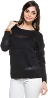 Zovi Solid Round Neck Casual Women's Sweater - SWTE2ZMQKHE4XSFC