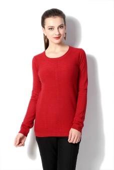 Van Heusen Striped Round Neck Women's Sweater