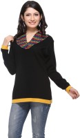 Madrona Solid Round Neck Casual Women's Sweater - SWTEFUNKXWFZM6MC