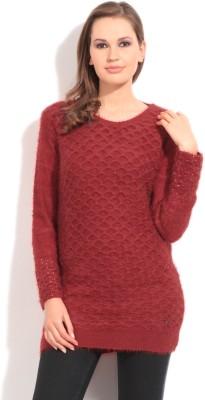 Duke Duke Solid Casual Women's Sweater (Red)