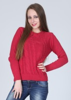 Pepe Solid Round Neck Casual Women's Sweater