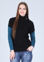 Duke Solid Turtle Neck Casual Women's Sweater