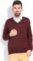 Indian Terrain Solid V-neck Casual Men's Sweater - SWTDZZHQDXYRRBZM