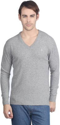 Buy United Colors of Benetton Solid V-neck Casual Men's Sweater: Sweater