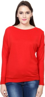 Allen Solly Self Design Round Neck Casual Women's Sweater