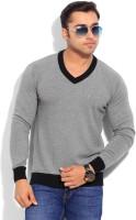 Indian Terrain Solid V-neck Casual Men's Sweater - SWTEYARZGZNNFJKY