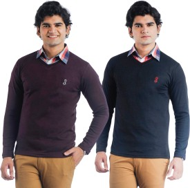 Eprilla Solid V-neck Casual, Formal, Festive Men's Sweater