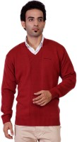 Pierre Carlo Solid V-neck Casual Men's Sweater - SWTEY8KUZ8HECBHH