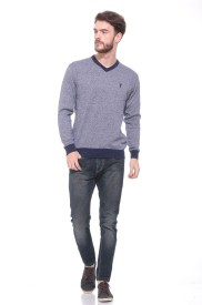 Pro Riders Solid V-neck Casual Men's Sweater