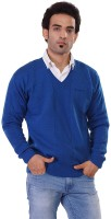 Pierre Carlo Solid V-neck Casual Men's Sweater - SWTEY8KURBA23HMG