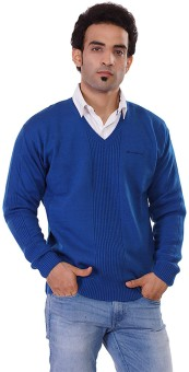 Pierre Carlo Solid V-neck Casual Men's Sweater