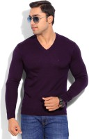 Indian Terrain Solid V-neck Casual Men's Sweater - SWTEYARZN4SPAGYX