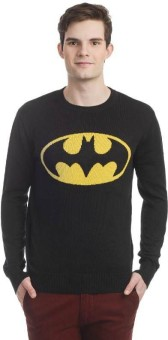 DC Comic Printed Round Neck Casual Men's Sweater