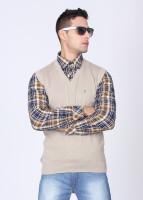 Indian Terrain Solid V-neck Casual Men's Sweater - SWTDQ2CJDZBFUE4U